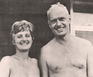 Helen and Doug Beckett in the late 1960's at Glen Echo Family Nudist Park.