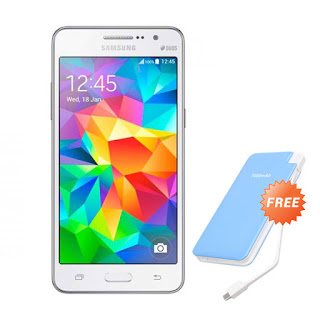 Samsung Galaxy Grand Prime VE G531 White Smartphone + Powerbank 7.800 mAh