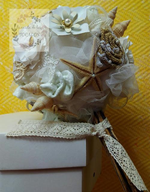 bouquet para novia con estrellas de mar