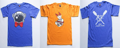 Nerdy Fresh Summer '11 Collection - Royal Sir Astro &amp; Gold The Lil Mohican &amp; The St-Tropez T-Shirts