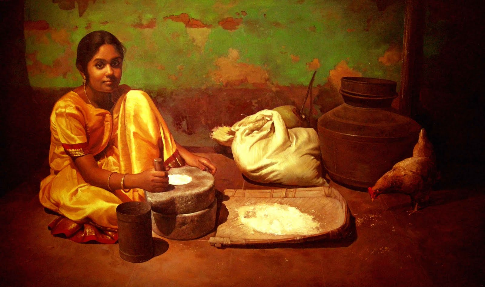Rhythmofart s elayaraja 39 s oil painting knife painting for Art of indian cuisine