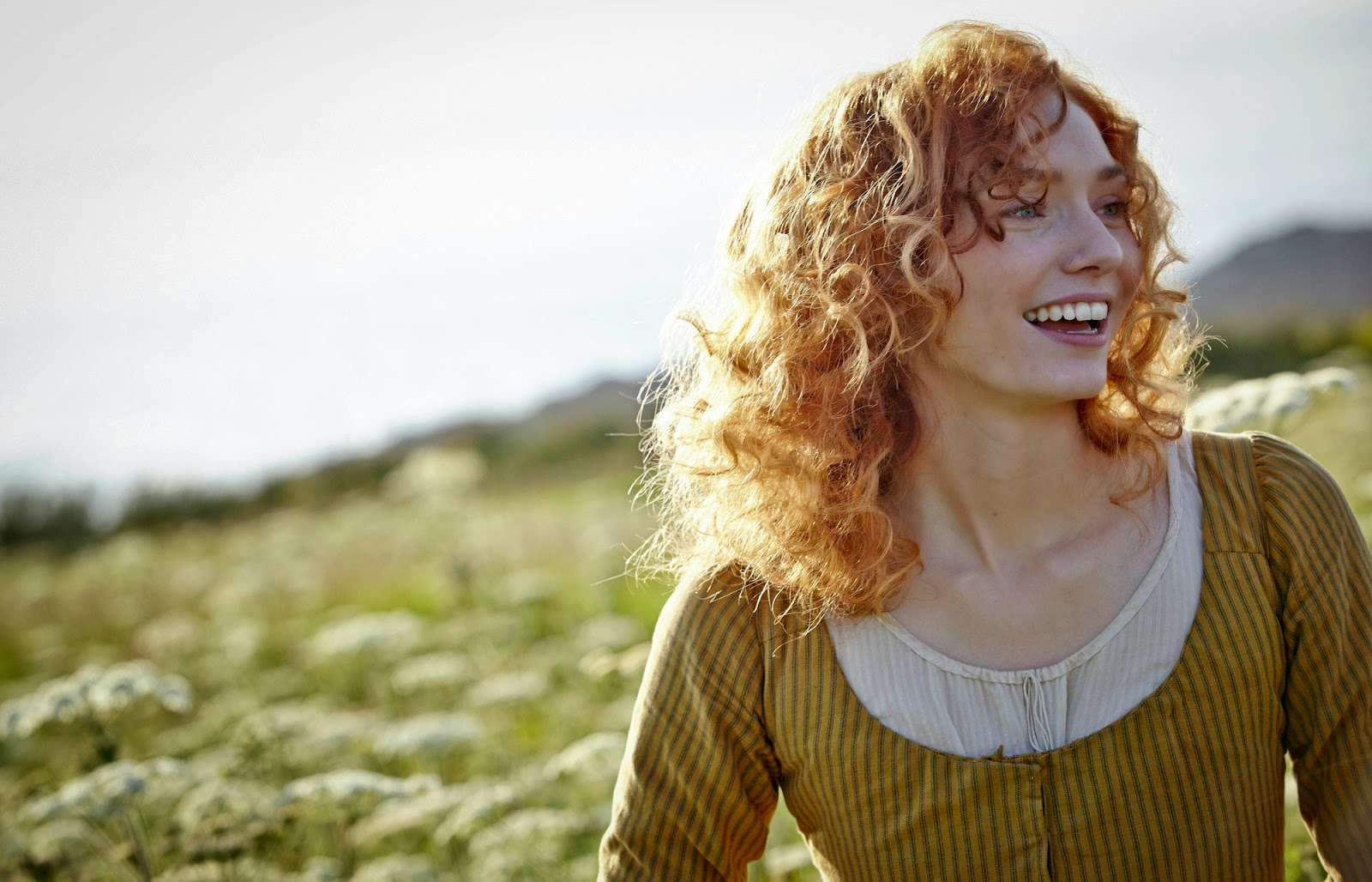 Eleanor Tomlinson as Demelza on the BBC series, Poldark