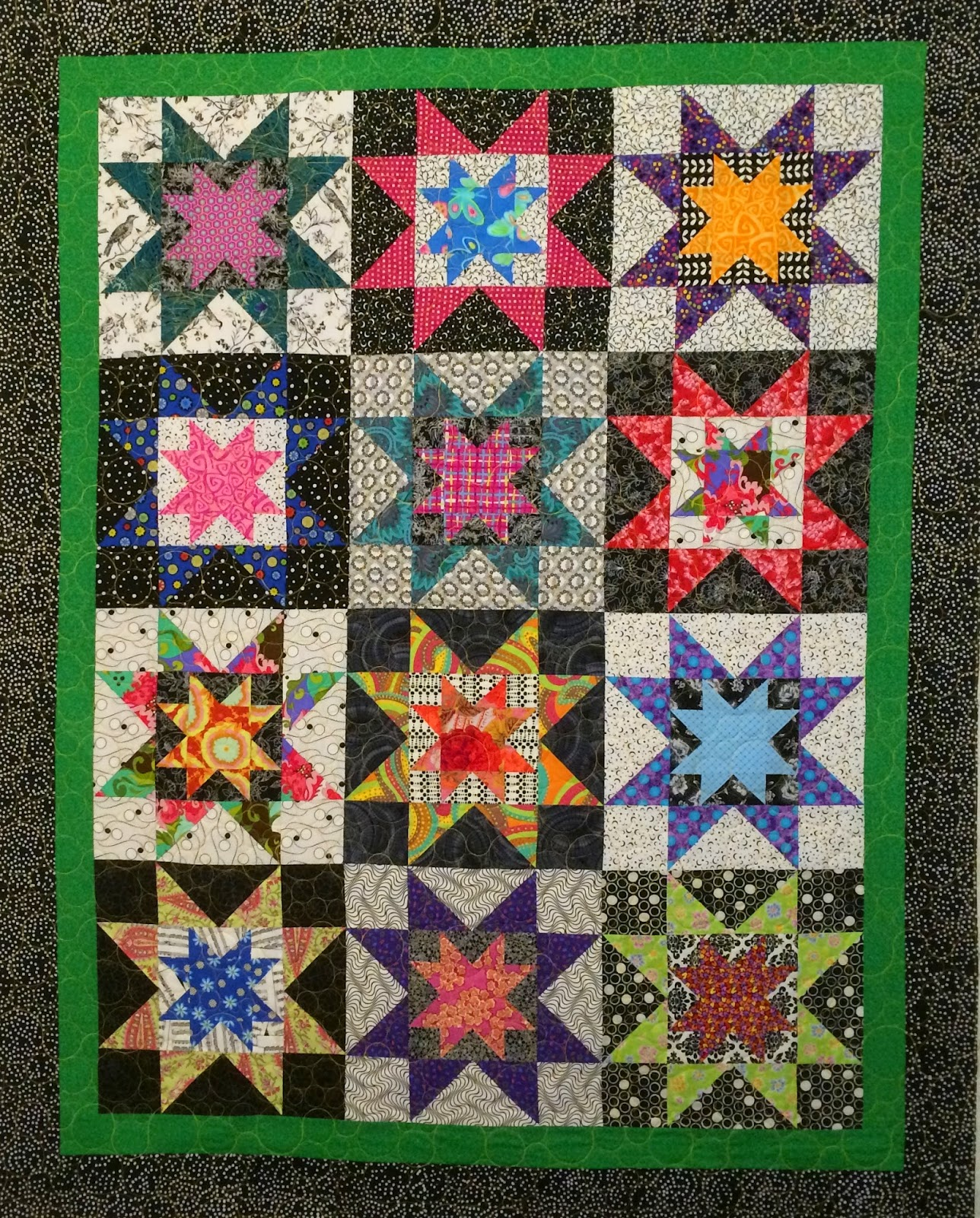 Barbara Garner's Starbursts with 8 Points Quilt
