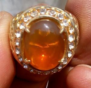 batu red fire opal