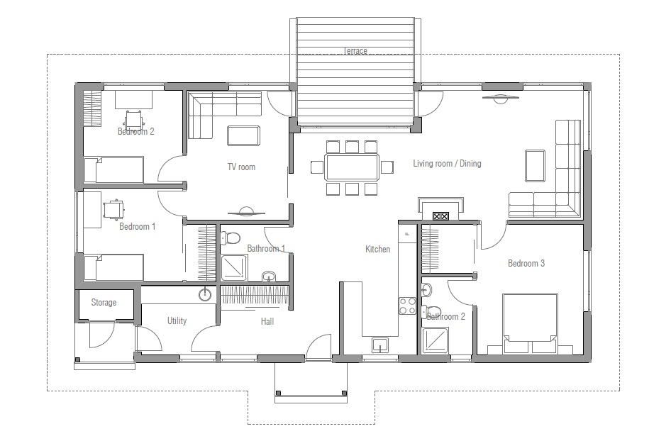 Affordable home plans affordable home plan ch31 for Affordable housing floor plans