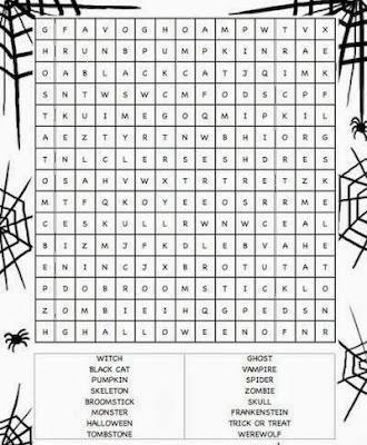 Hard Halloween Word Search 1
