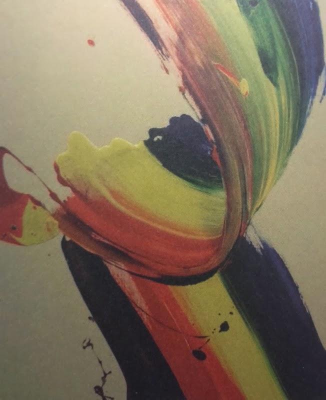 """Vitality of Arirang"" by Choi Haeng Sug. A sort of rainbow work on a plain background."