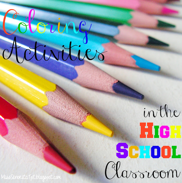 Coloring Activities in the HIgh School Classroom