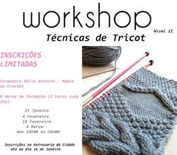 Workshop de tricot - nível 2 - Retrosaria da Cidade