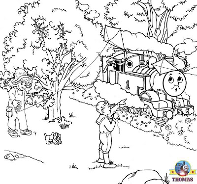 Train Thomas the tank engine and friends coloring book pages for kids printable picture worksheets