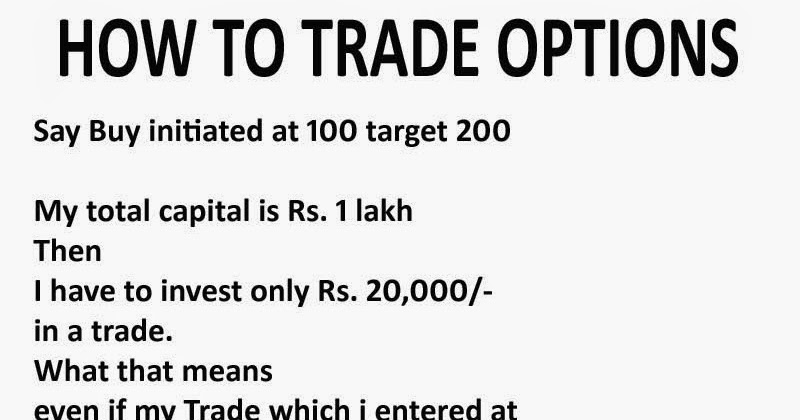 How to trade stock options in india