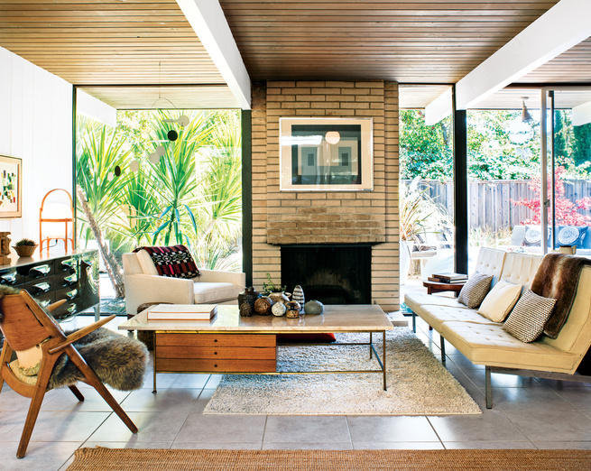 Room for Two: Traditional Meets Midcentury-Modern Design   Work ...