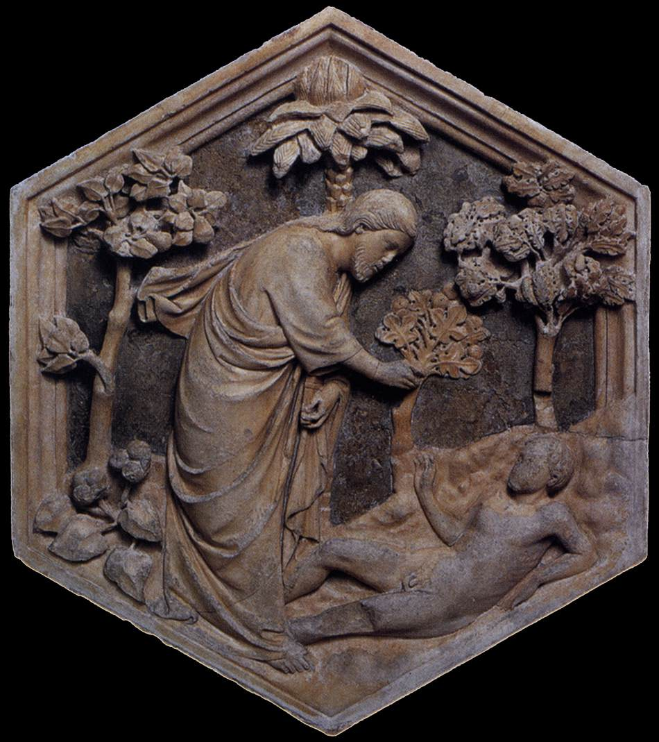 Andrea Pisano Andrea+Pisano_Creation+of+Adam_Florence_Museo+dell%2527Opera+del+Duomo_1334-37