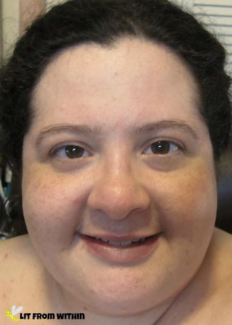 No makeup - just naked face and ISA Professional 24k Gold Serum