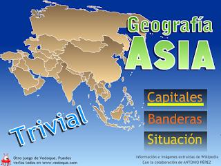 TRIVIAL ASIA: CAPITALES, BANDERAS Y SITUACIÓN