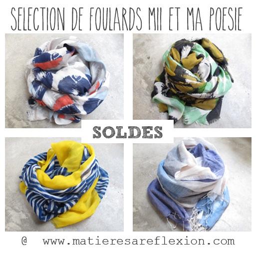 SOLDES Foulards Ma poésie & Mii