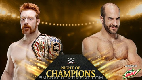 WWE Night of Champions PPV Cesaro wins United States Title from Sheamus