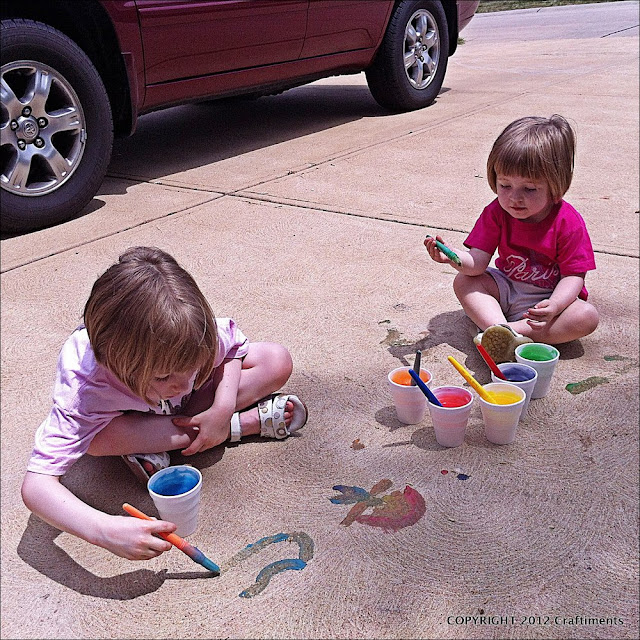Craftiments.com:  Painting the Driveway