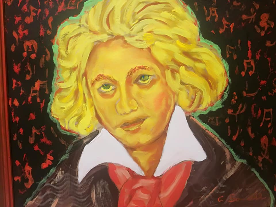 Omaggio pranico a Beethoven nel 250esimo della sua nascita, ho voluto ritrarlo giovane, come un an