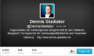 Twitter-Account Dennis Gladiator (CDU)