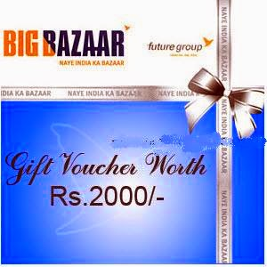 Get Big Bazaar of Rs.2000 voucher at Rs.1900 on Amazon