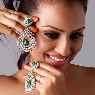 Different angle for jewelry photograph with model
