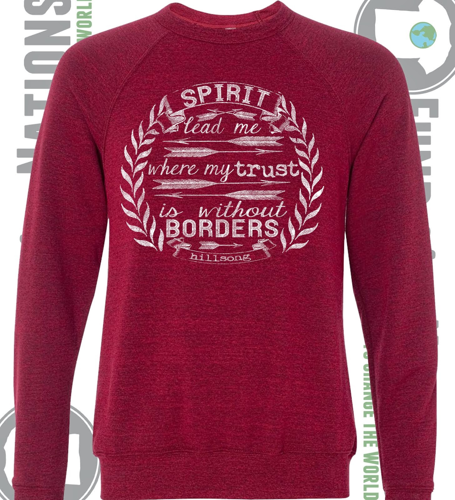 Spirit Lead Me Dark Red Triblend Sweater