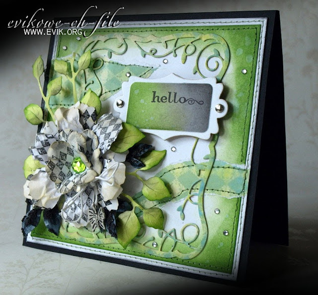 Sizzix Tim Holtz, Bigz Die,Tattered Florals, Memory Box Twirling Vine Frame (98299)
