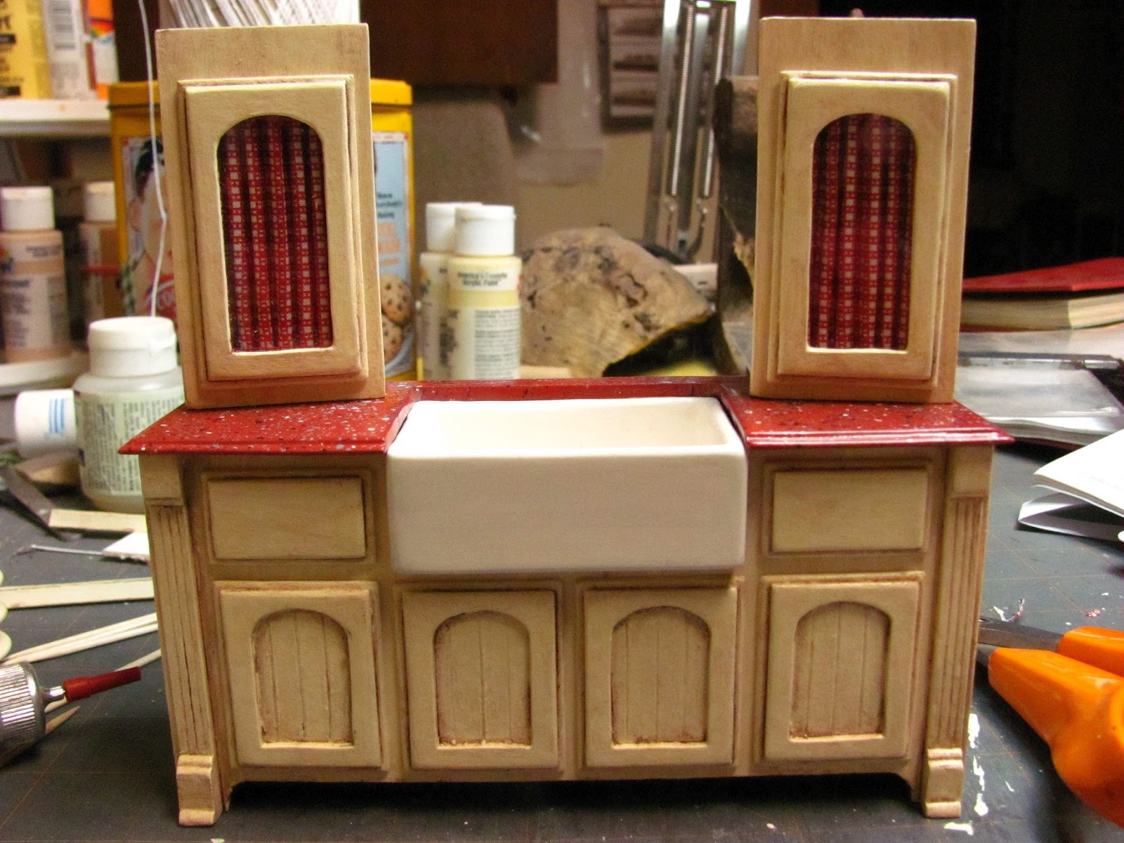 1 Inch Minis: KITCHEN CABINETS - How To Make