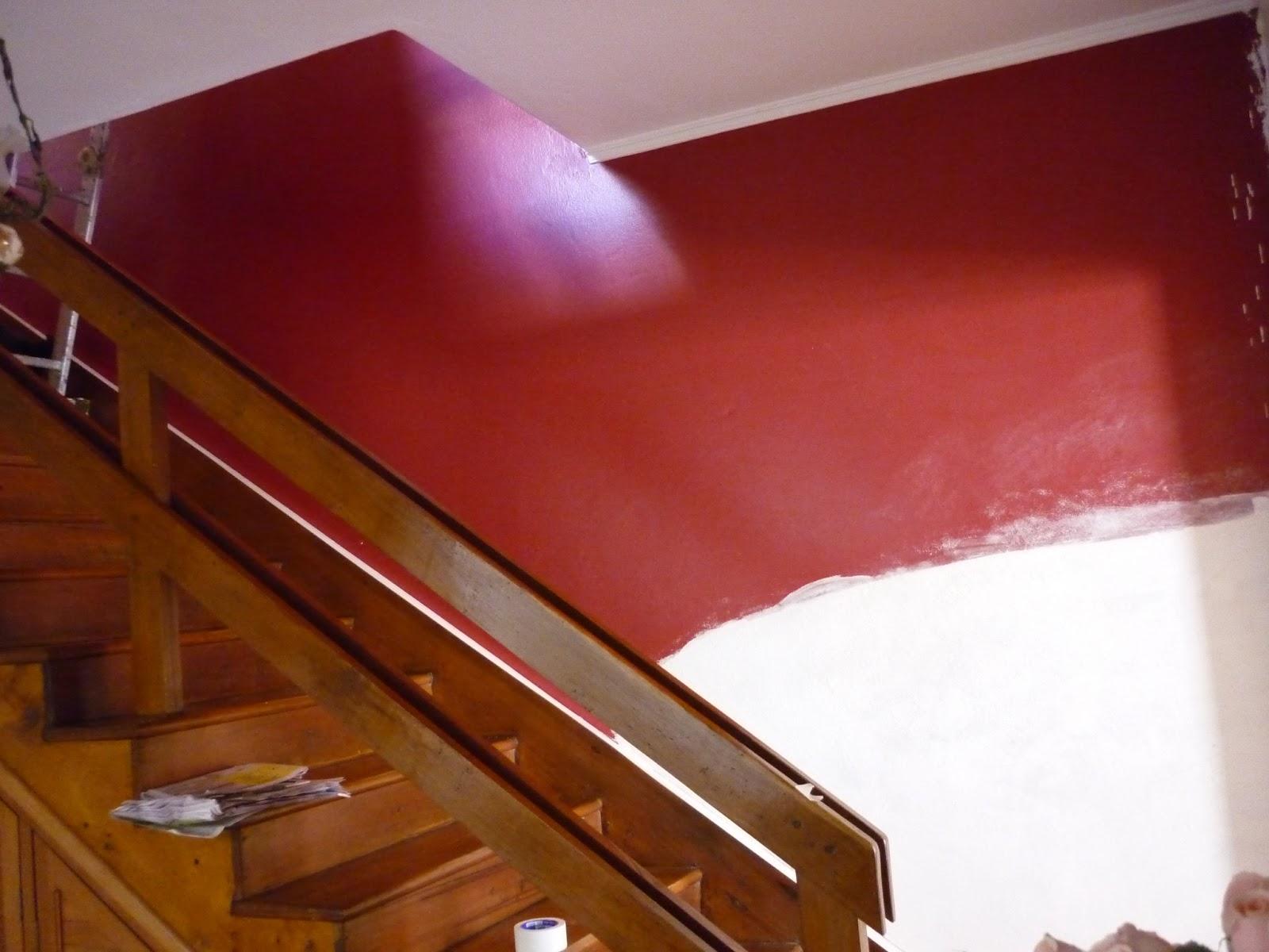 Esc pinturas rio grande textura r stica em 1 parede da escada e 1 parede da cozinha pintadas - Pintura acrilica para paredes ...