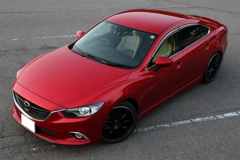 Mazda Atenza, 6, piękny design, ciekawy, samochód z Japonii, galeria zdjęć, czerwony