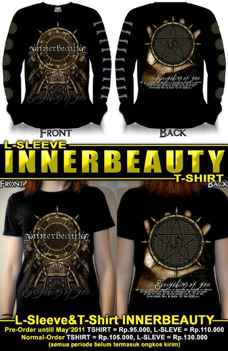 New T-Shirt + L-Sleef Innerbeauty Indonesian gothic metal band