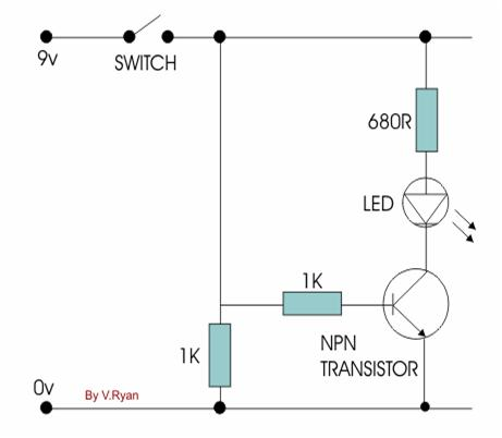 Npn Transistor Circuit Diagram | The Transistor As A Switch Electronics And Communications