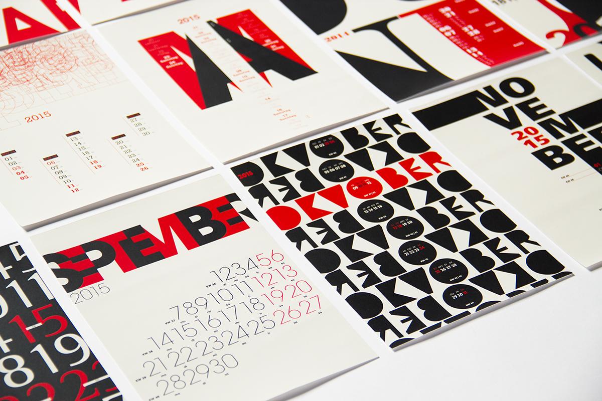Calendar Typography S : Jenis media promosi cetak bitebrands