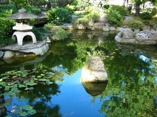 Linterna Japonesa paisaje jardin