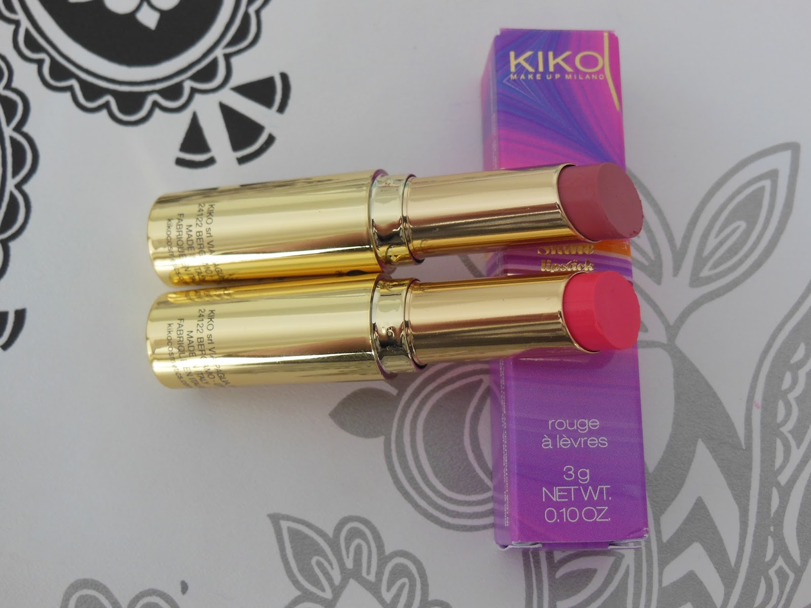 Kiko life in rio collection creamy touch lipsticks