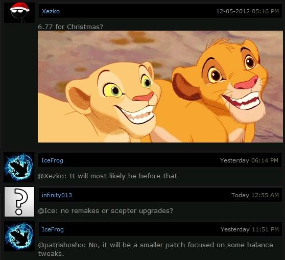 DotA 6.77 update