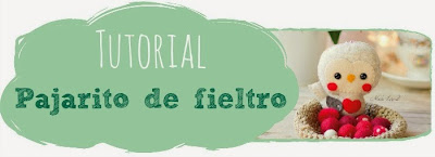 Tutorial pajarito de fieltro