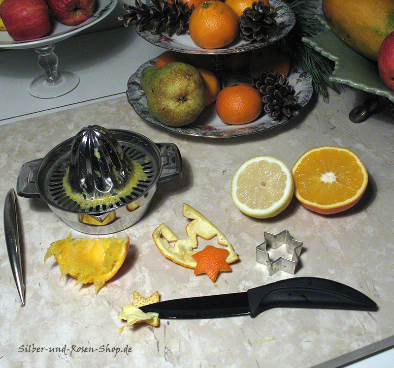 silber vielseitige orangenschalen make stars from orange peel. Black Bedroom Furniture Sets. Home Design Ideas