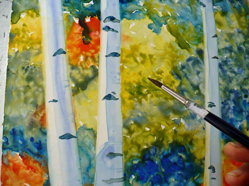 watercolor how to keep paper from warping