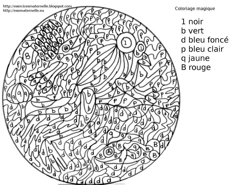 Maternelle coloriage magique poissons - Coloriage magic a imprimer ...
