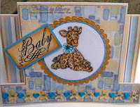 Giraffe card for a little boy, created by Beccy
