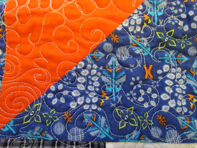 free motion quilting - graffiti style