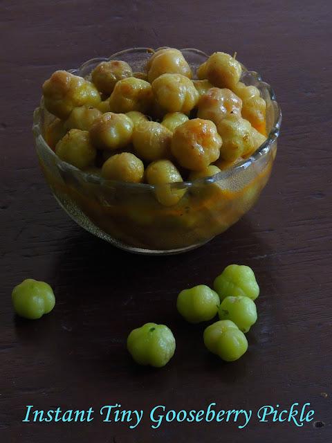 Instant ari nellikai urugai, Instant gooseberry pickle, Tiny gooseberry pickle