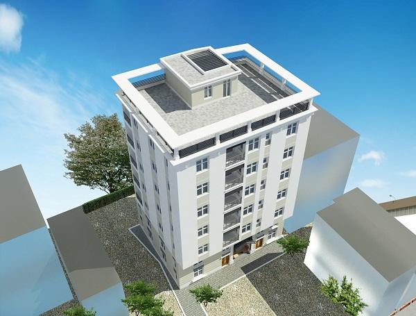 Phối cảnh 3D của nhà chung cư mini Nhật Tảo Thang Máy giá rẻ tại Đông Ngạc, Bắc Từ Liêm, HN