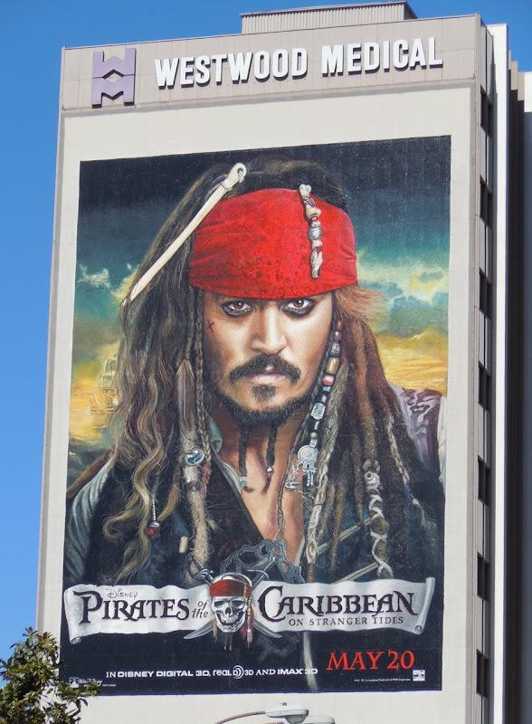 Johnny Depp Jack Sparrow Pirates 4 billboard