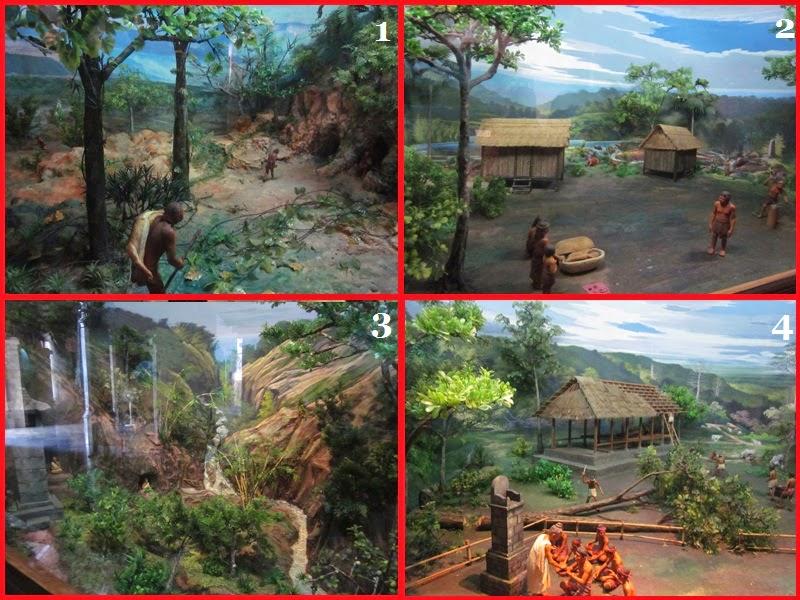 Diorama 1 sampai 4 Di Museum Bajra Sandi