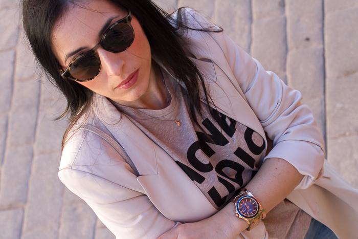 Complementos Gafas de sol Bottega Veneta Reloj oro rosa y esfera azul de Guess Watches