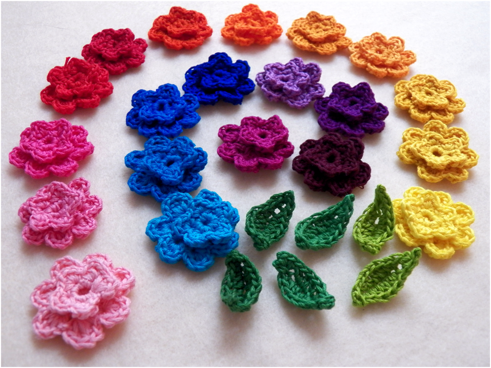 Crochet Flower Pattern Thread : Art Threads: Monday Project - Crocheted May Flowers