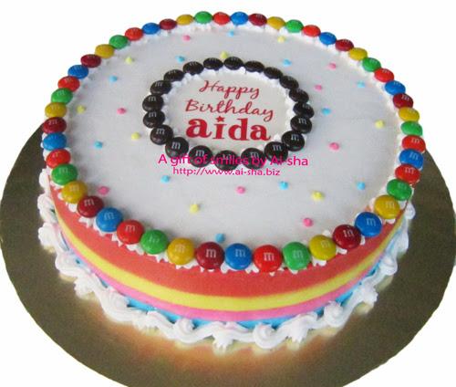 Birthday Cake With m&m's